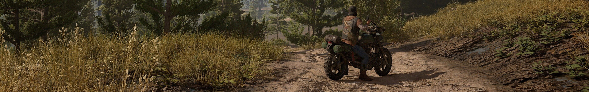 Banner media of Days Gone video game.