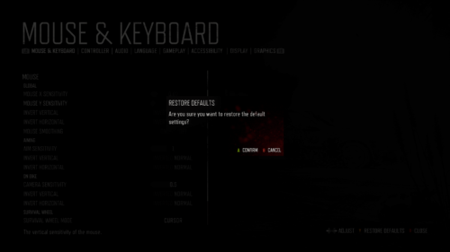 Confirmation screenshot of Days Gone video game interface.