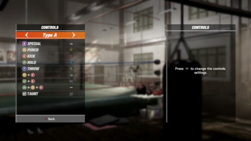 Controls Config screenshot of Dead or Alive 6 video game interface.