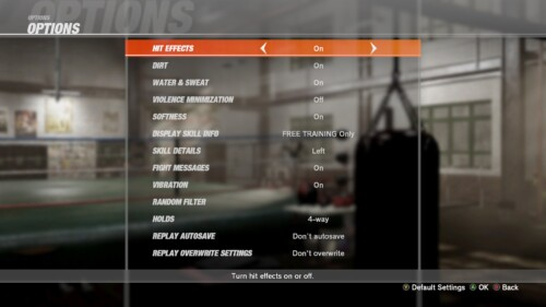 Game Settings screenshot of Dead or Alive 6 video game interface.