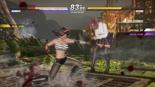 HUD screenshot of Dead or Alive 6 video game interface.
