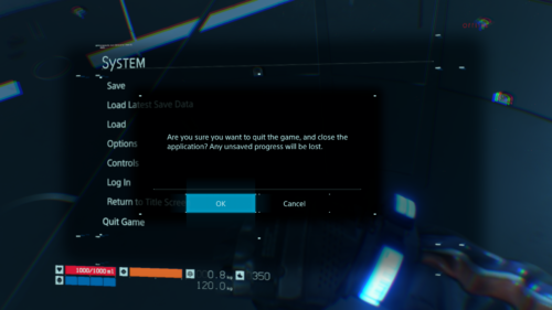 Confirmation screenshot of Death Stranding video game interface.