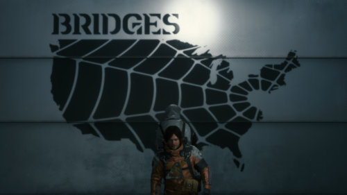 Decal screenshot of Death Stranding video game interface.