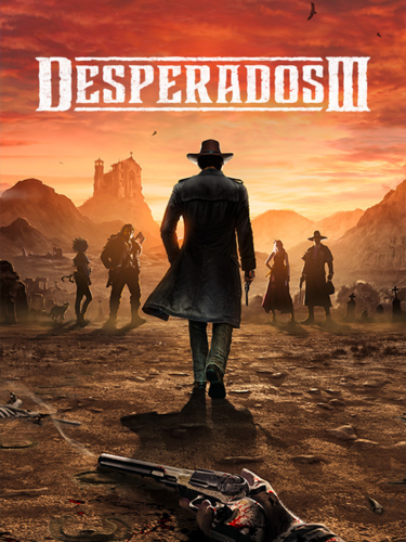 Cover media of Desperados III video game.