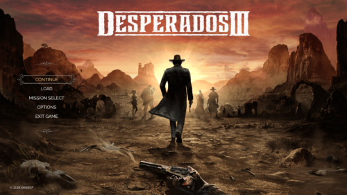 Main Menu screenshot of Desperados III video game interface.