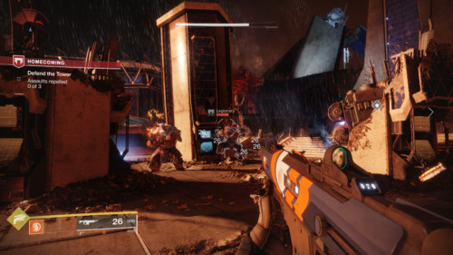 Defend the tower screenshot of Destiny 2 video game interface.