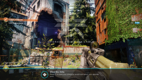 Level up screenshot of Destiny 2 video game interface.