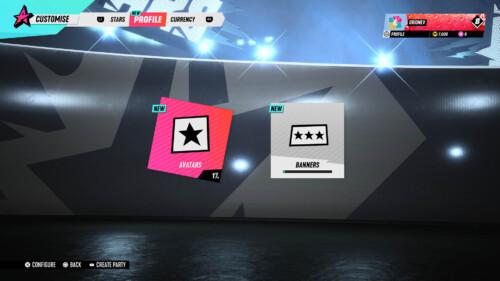 Avatar Customisation  screenshot of Destruction AllStars video game interface.