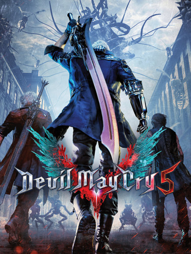 Cover media of Devil May Cry 5 video game.