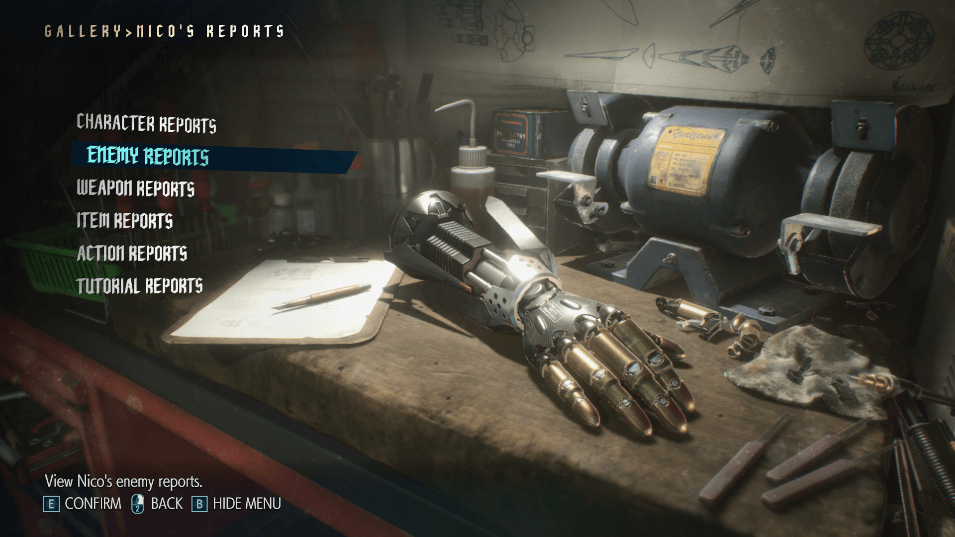 Gallery screenshot of Devil May Cry 5 video game interface.