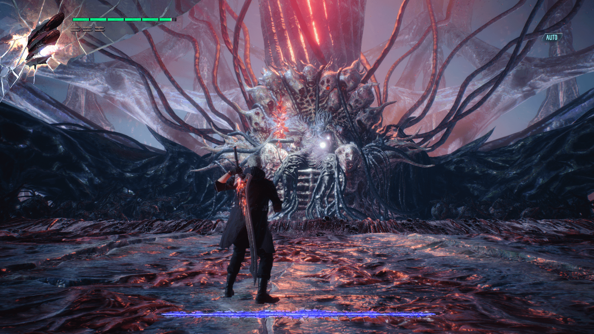 In game screenshot of Devil May Cry 5 video game interface.
