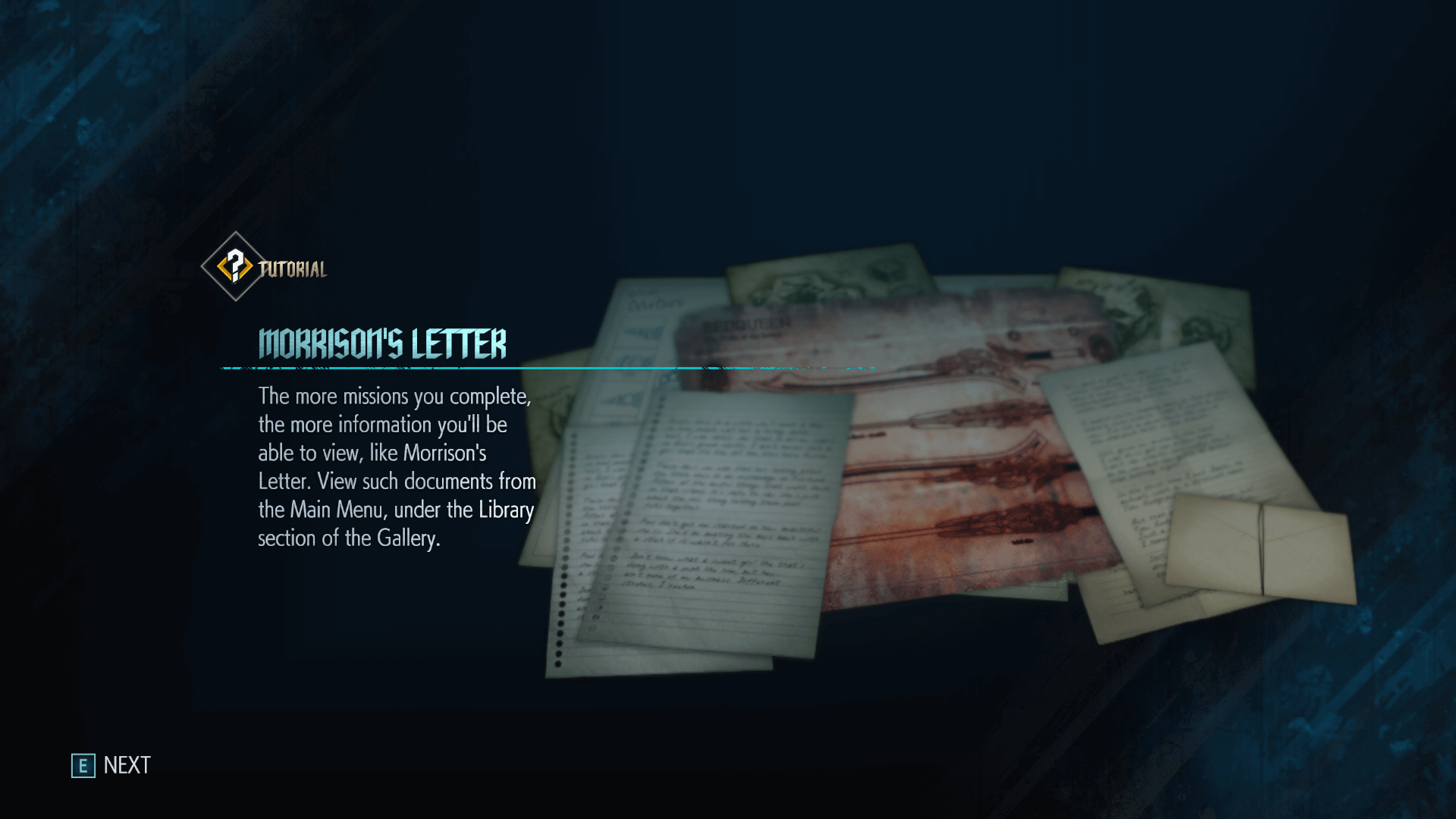 Letter screenshot of Devil May Cry 5 video game interface.
