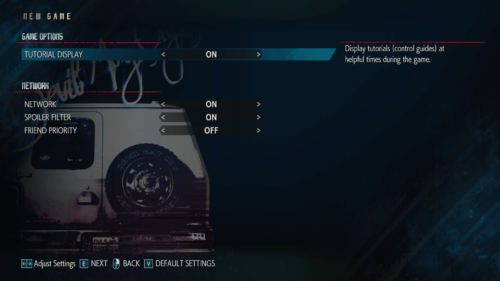 Options screenshot of Devil May Cry 5 video game interface.