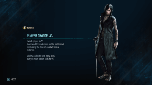 Player screenshot of Devil May Cry 5 video game interface.