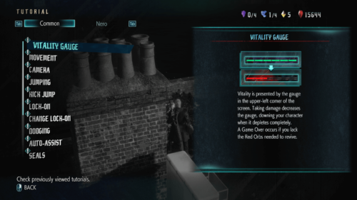 Vitality gauge screenshot of Devil May Cry 5 video game interface.