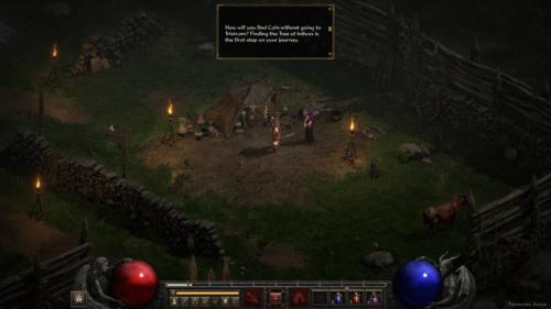 Dialogue screenshot of Diablo II: Resurrected – Technical Alpha video game interface.