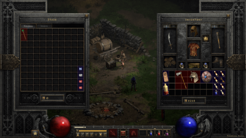 Stash screenshot of Diablo II: Resurrected – Technical Alpha video game interface.