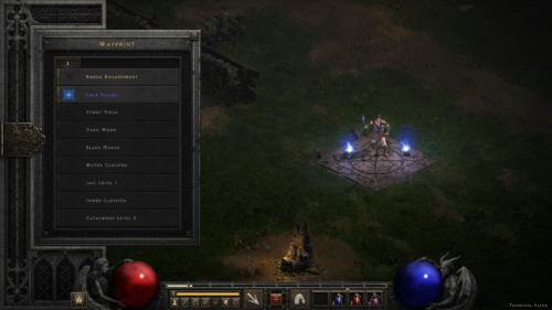 Waypoint screenshot of Diablo II: Resurrected – Technical Alpha video game interface.