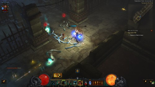 Back to town screenshot of Diablo III video game interface.