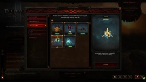 Collection screenshot of Diablo III video game interface.