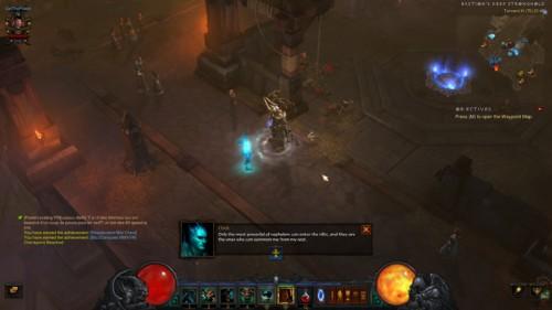 Dialogue screenshot of Diablo III video game interface.