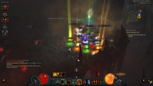 Loot screenshot of Diablo III video game interface.