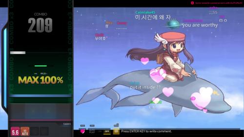 Air: Gameplay screenshot of DJMAX RESPECT V video game interface.