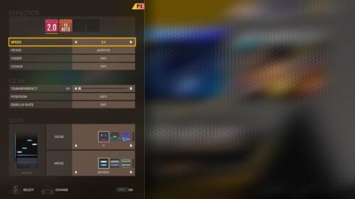 Equipment screenshot of DJMAX RESPECT V video game interface.
