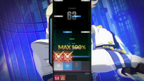 FreeStyle: Gameplay screenshot of DJMAX RESPECT V video game interface.