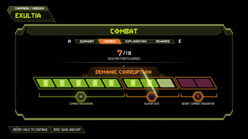 Combat screenshot of Doom Eternal video game interface.