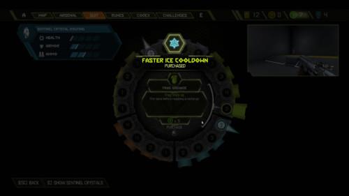 Faster ice cooldown screenshot of Doom Eternal video game interface.