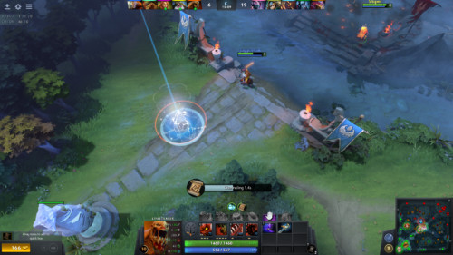 Channeling screenshot of Dota 2 video game interface.