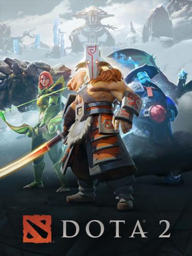 Cover media of Dota 2 video game.