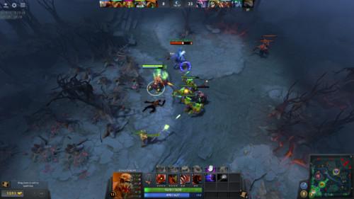 Damage screenshot of Dota 2 video game interface.