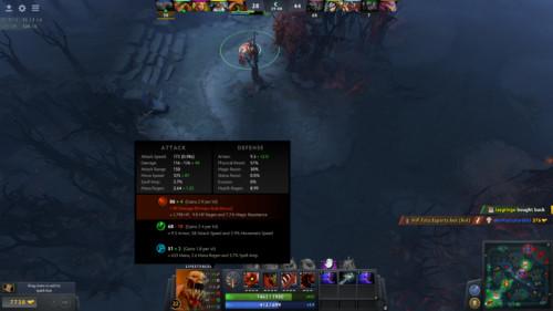 Hero stats screenshot of Dota 2 video game interface.