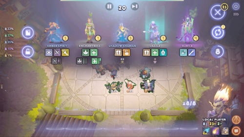 Buy champion screenshot of Dota Underlords Mobile video game interface.