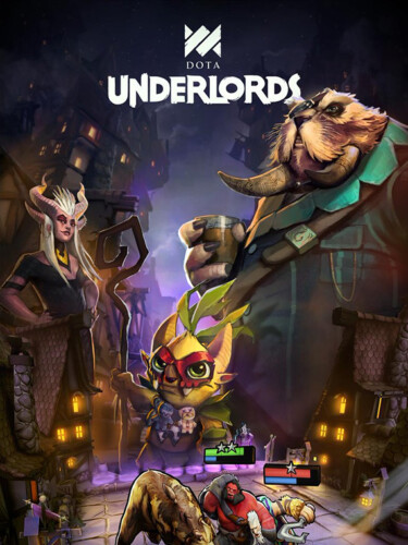 Cover media of Dota Underlords Mobile video game.