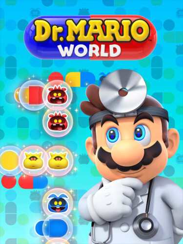 Cover media of Dr. Mario World video game.