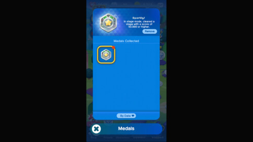 Inventory - Medals screenshot of Dr. Mario World video game interface.