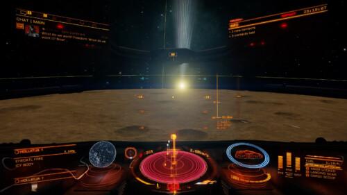 Near a planet screenshot of Elite: Dangerous video game interface.