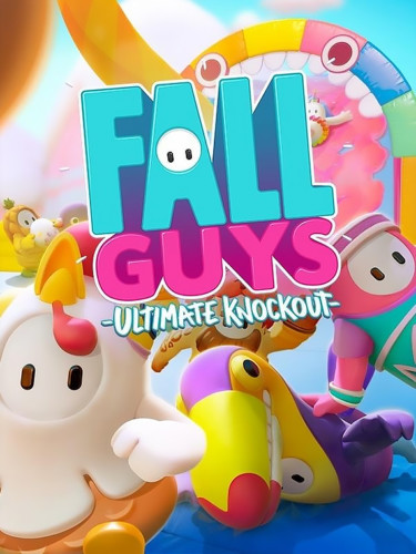 Cover media of Fall Guys: Ultimate Knockout video game.