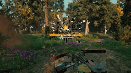 Celebration screenshot of Far Cry New Dawn video game interface.