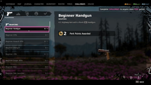 Challenges screenshot of Far Cry New Dawn video game interface.