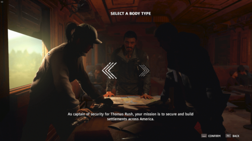 Character Select screenshot of Far Cry New Dawn video game interface.
