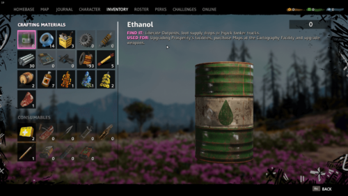 Craft screenshot of Far Cry New Dawn video game interface.