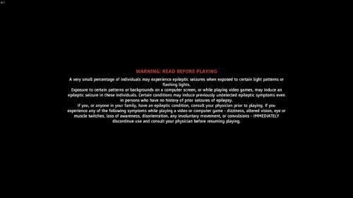 Epilepsy Warning screenshot of Far Cry New Dawn video game interface.