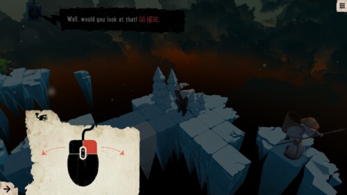 Tutorial screenshot of Felix the Reaper video game interface.