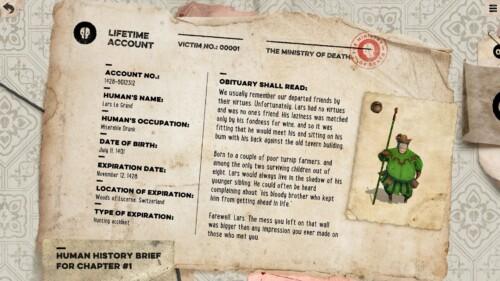 Lifetime account screenshot of Felix the Reaper video game interface.