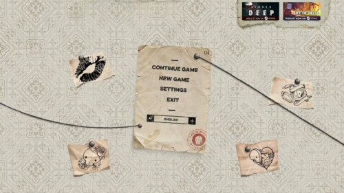 Start game screenshot of Felix the Reaper video game interface.