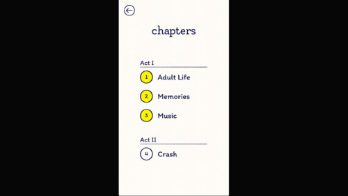 Chapter Selection screenshot of Florence video game interface.